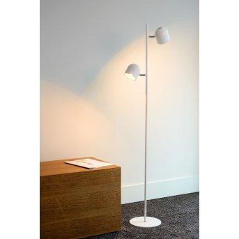 Lucide SKANSKA Stehleuchte LED Weiß, 2-flammig