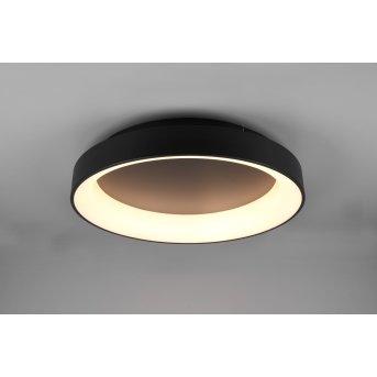 Trio Girona Deckenleuchte LED Schwarz, 1-flammig, Fernbedienung