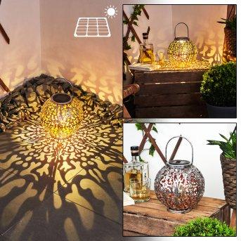 Moreland Solarleuchte LED Schwarz, Silber, Kupferfarben, 1-flammig