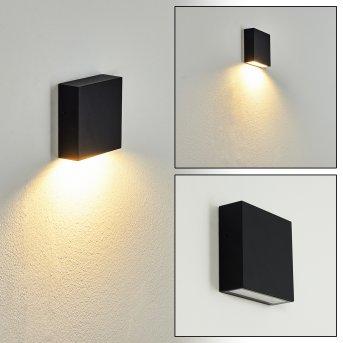 Spidern Außenwandleuchte LED Schwarz, Weiß, 1-flammig