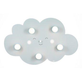 Waldi Wolkengesicht Deckenleuchte Grau, 5-flammig