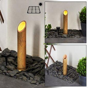 Tolab Solarleuchte LED Schwarz, Braun, 1-flammig