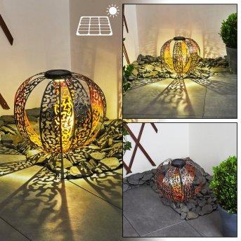 Wasalea Solar-Kugelleuchte LED Schwarz, Silber, Bronze, 1-flammig