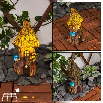Katiao Solarleuchte LED Blau, Braun, Orange, 1-flammig