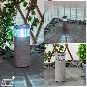 Mesabolo Solarleuchte LED Schwarz, Grau, 1-flammig