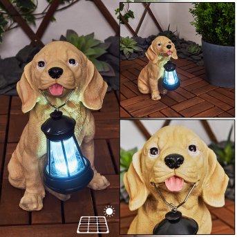 Sofie Solarleuchte LED Schwarz, Braun, 1-flammig