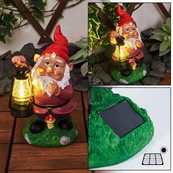 Katiao Solarleuchte LED Bunt, 1-flammig
