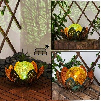 Taft Solarleuchte LED Grün, Kupfer, 1-flammig