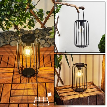 Klovsta Solar-Tischleuchte LED Schwarz, 1-flammig