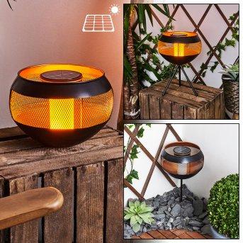 Harimal  Solar-Tischleuchte LED Schwarz, Kupferfarben, 24-flammig