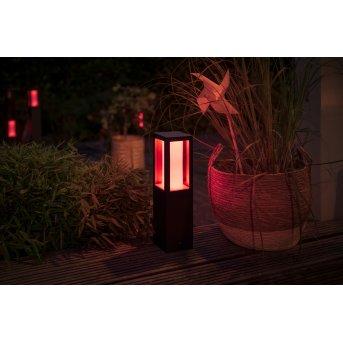 Philips Hue Impress Sockelleuchte Basis-Set LED Schwarz, 1-flammig, Farbwechsler