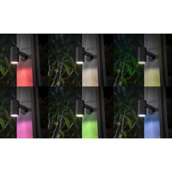 Philips Hue  Lily Gartenspot, 3er Basis-Set LED Schwarz, 1-flammig, Farbwechsler