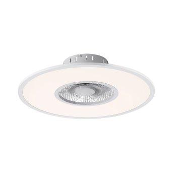 Leuchten Direkt FLAT-AIR Deckenventilator LED Silber, 1-flammig, Fernbedienung