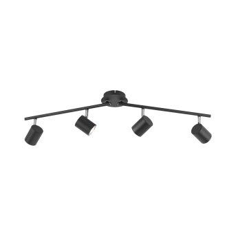 Leuchten Direkt TARIK Deckenleuchte LED Schwarz, 4-flammig