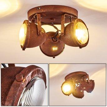 Glostrup Deckenleuchte LED Rostfarben, 3-flammig