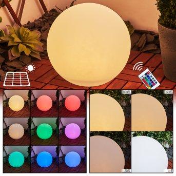 Ykullen Solar-Kugelleuchte LED Schwarz, 1-flammig, Fernbedienung, Farbwechsler
