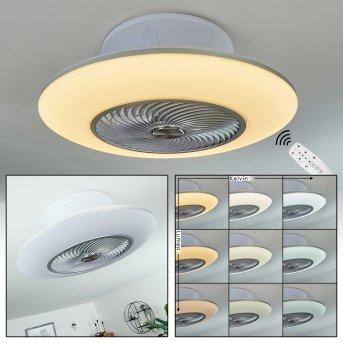 Chaville Deckenventilator LED Weiß, 1-flammig, Fernbedienung
