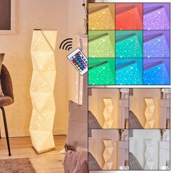 Korskrogen Stehleuchte LED Weiß, 1-flammig, Fernbedienung, Farbwechsler