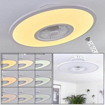 Marmorta Deckenventilator LED Weiß, 1-flammig, Fernbedienung