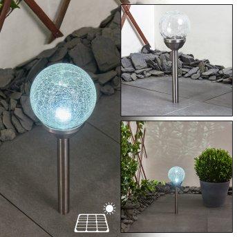 Carbonia Solar-Kugelleuchte LED Nickel-Matt, 1-flammig