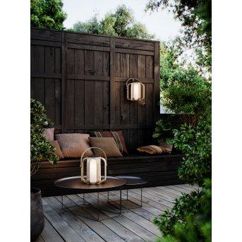 Nordlux BOB Solar-Tischleuchte LED Holz dunkel, 1-flammig