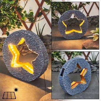 Siviri Solarleuchte LED Grau, Bronze, 48-flammig