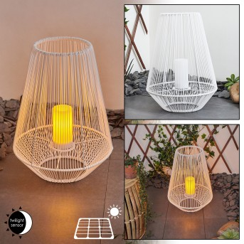 Mendola Solarleuchte LED Weiß, 1-flammig