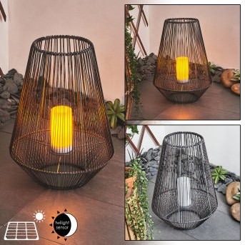 Mendola Solarleuchte LED Grau, 1-flammig