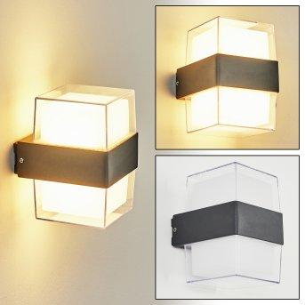 Cesta Außenwandleuchte LED Schwarz, 2-flammig