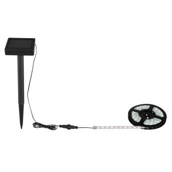 Globo Solar-Lichterkette LED Schwarz, 180-flammig