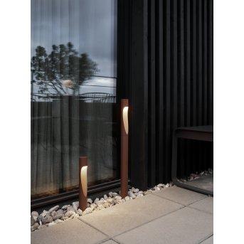 Louis Poulsen Flindt Wegeleuchte LED Rostfarben, 1-flammig