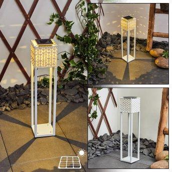 Quarrata Solar-Wegeleuchte LED Weiß, 1-flammig