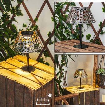 Moreland Solar-Tischleuchte LED Schwarz, 1-flammig