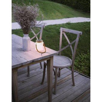 Eglo LATERNE Solarleuchte LED Edelstahl, 1-flammig, Farbwechsler