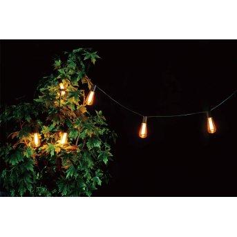 Eglo PARTY Solar-Lichterkette LED Schwarz, 6-flammig