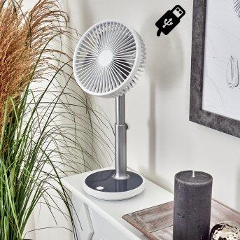 Visting Tischventilator LED Grau, Weiß, 1-flammig