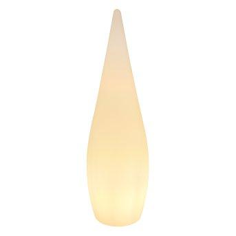 Globo VASCON Außenstehleuchte LED Weiß, 1-flammig, Fernbedienung, Farbwechsler