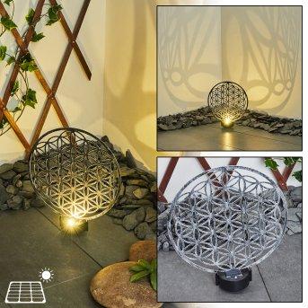 Kupa Solar-Kugelleuchte LED Schwarz, Silber, 2-flammig