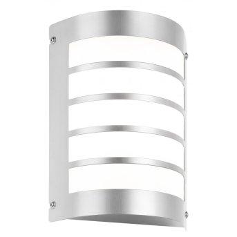 LCD Außenwandleuchte Edelstahl, 1-flammig, Bewegungsmelder