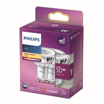 Philips 2er Set LED GU10 4,6 Watt 2700 Kelvin 355 Lumen