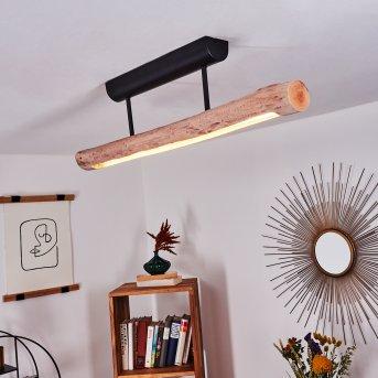 Winterthur Deckenleuchte LED Schwarz, 1-flammig