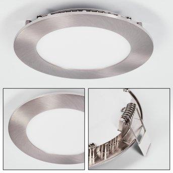 Finsrud Einbauleuchte LED Nickel-Matt, 1-flammig