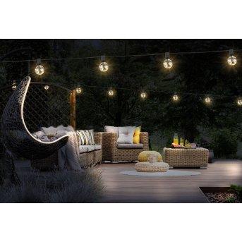 Globo NIRVANA Lichterkette LED Schwarz, 50-flammig