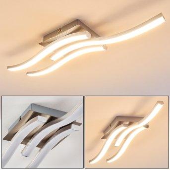 Nendaz Deckenleuchte LED Nickel-Matt, 3-flammig