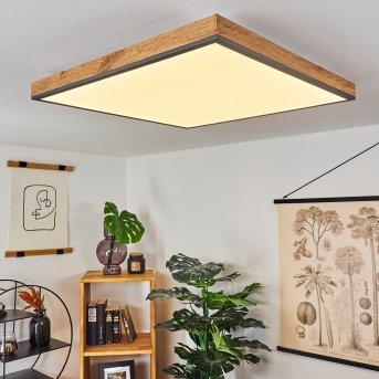 Salmi Deckenpanel LED Schwarz, Braun, Weiß, 1-flammig