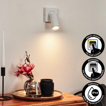 Hakamken Wandleuchte LED Weiß, 1-flammig