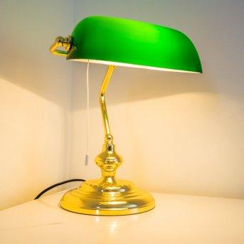 Bankerlampe Messing, 1-flammig