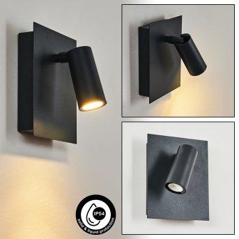 Saeter Außenwandleuchte LED Schwarz, 1-flammig
