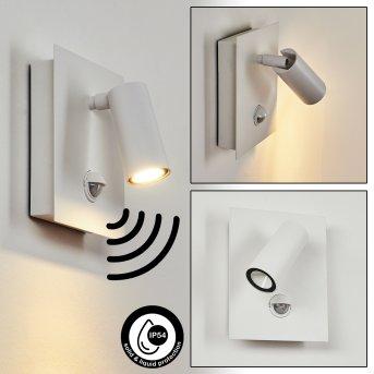 Saeter Außenwandleuchte LED Weiß, 1-flammig, Bewegungsmelder