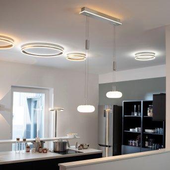 Paul Neuhaus Q-ETIENNE Pendelleuchte LED Stahl gebürstet, 3-flammig, Fernbedienung